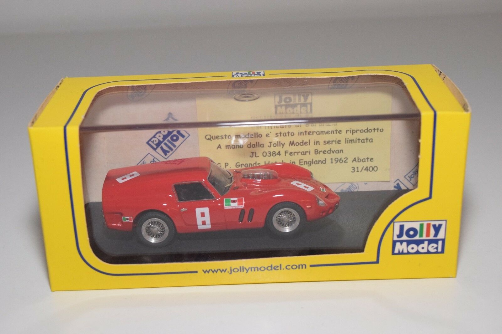 V 1:43 JOLLY MODEL JL0384 FERRARI BREDVAN BREADVAN G.P. GRANDS HATCH 62 MIB RARE