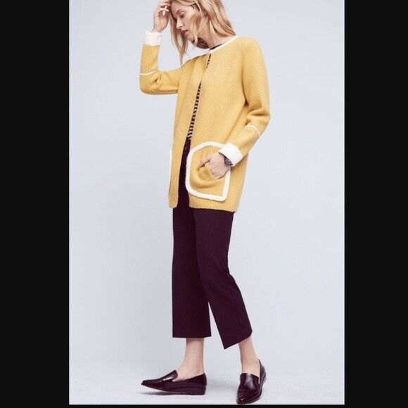 La Fee greene greene greene Yellow Cardigan Size M Original Price  128 a5751d
