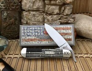 Case-XX-Beautiful-Natural-Bone-VINTAGE-FLAG-Bullet-XX-Russlock-Pocket-Knife