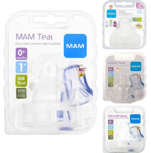 Mam-Bottle-Flow-Teats-Pack-Of-2-Use-With-Mam-Bottles-Bpa-Free-Slow-Medium-Fast