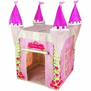 Image is loading Pink-Princess-Castle-Pop-Up-Tent-Uv-Shelter-  sc 1 st  eBay & Pink Princess Castle Pop Up Tent Uv Shelter Play Toy Girls Wendy ...