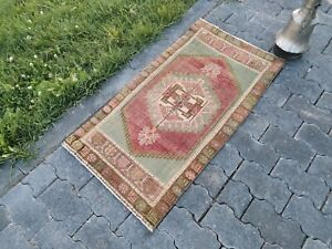 TURC porte Tapis de, Entrée Tapis, Outdoor rug, Petit Vintage Rug, petites Oushak