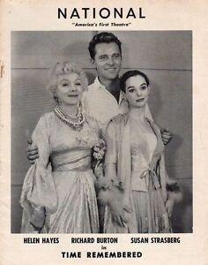 Richard-Burton-Susan-Strasberg-034-Time-Remembered-034-Playbill-1957-Washington-HZ