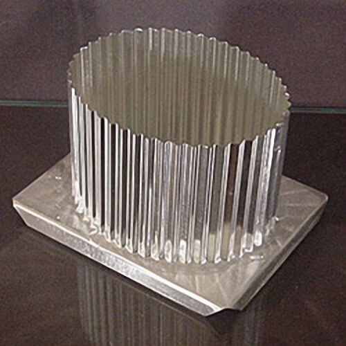 Fluted OVAL Metal Candle Mold 3-1//2 x 4-1//2 x 4 inches high