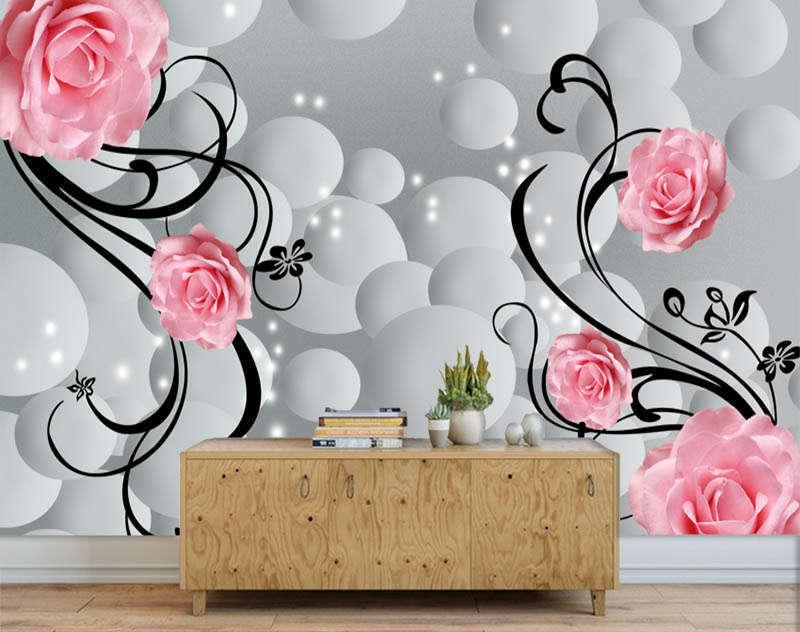 Literary Lofty Ring 3D Full Wall Mural Photo Wallpaper Printing Home Kids Decora