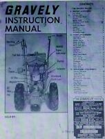 Gravely L Li Ls 2-wheel Garden Tractor Owner Operating & Parts Manual 28pg 1963