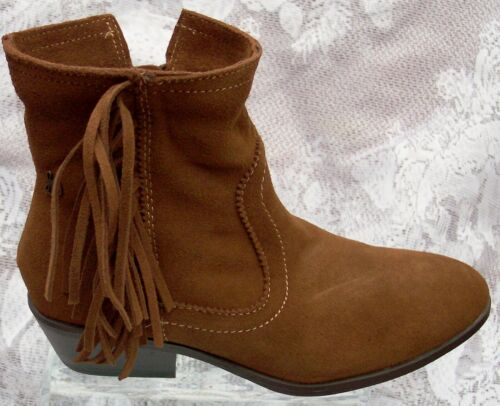 Details about  /SAM EDELMAN  GIRLS SUEDE LEATHER FRINGE ANKLE BOOTS  GIRLS SIZE 13 NEW WITH BOX