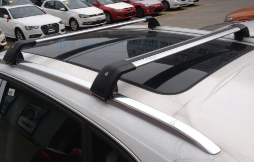 New Top Roof Rack For Audi Q7 2006-2015 Luggage Aluminum Rail CrossBar BLack