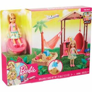 Barbie Chelsea Doll Tiki Hut Playset with Moldable Sand Barbie Chelsea Doll Tiki