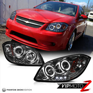 Details About Halo Projector Head Lamp Led Drl Smoke Lens 05 10 Chevy Cobalt Pontiac G5