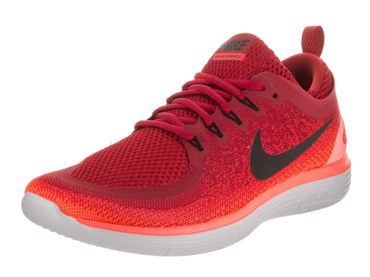 uk availability 5ae76 2d633 Nike Free RN Distance 2 Gym Red Running Shoes Shoes Shoes Kicks 8 Mens  863775 600