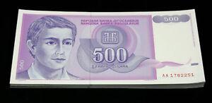 1000 P-114 UNC /> ZA Replacement Yugoslavia 1,000 1992 Dinara