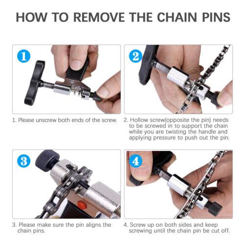 Portable Bicycle Chain Breaker Splitter Cutter Bike Hand Repair Removal Tool