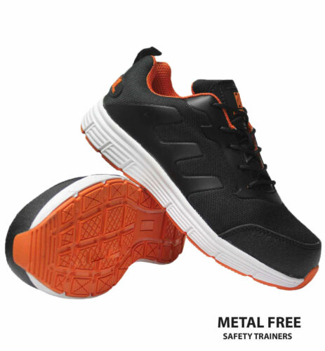 MENS ULTRA LIGHTWEIGHT NON-METAL COMPOSITE TOE CAP SAFETY TRAINERS WORK BOOTS SZ