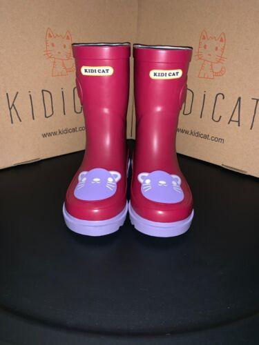 kids wellies Kidi cat Size 9.5 UK 26 EU Purple Cat