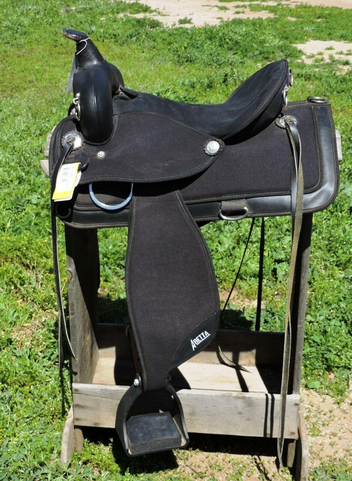 Abetta 15 Pathfinder Cordura Nylon Western Trail Saddle