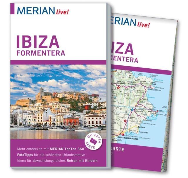 REISEFÜHRER IBIZA FORMENTERA 2015/16; MERIAN live +LANDKARTE; UNGELESEN wie neu;