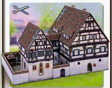 Mittelalterliches Spital 1:87 Bastelbogen zum Ausschneiden Spur H0 J.F.Schreiber