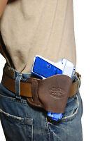 Barsony Brown Leather Owb Yaqui Holster Na Arms, Llama Mini-pocket 22 25 380
