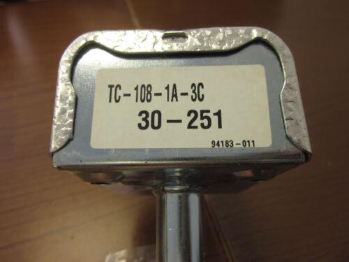 NEW Firestat # TC108-1A-3C Manual Reset Limit Control