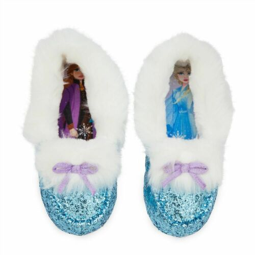 Disney Authentic Frozen Anna /& Elsa Princess Soft Slippers Shoes Girls Size 2//3