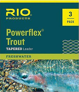 RIO-Powerflex-Trout-Tapered-Leader-3-Pack-7-5-ft-9-ft-Lengths-All-Sizes