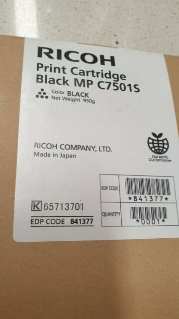 Genuine Ricoh 841377 Black Toner Aficio MP C6501 C7501 Brand New TYPE-C7501SB