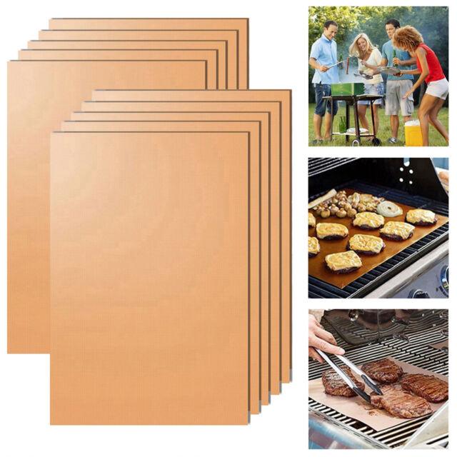 BBQ Grill Mat antiadhésif Four Liners Téflon Cuisson Réutilisable Feuille Pad Barbecue