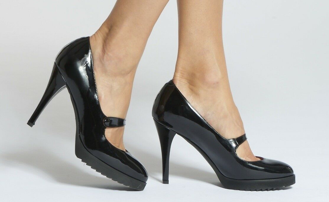 ANYI LU 'Camille' Mary Jane Patent Leather Pump nero US-10 MSRP  525