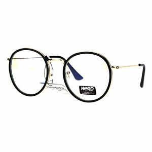 e1924e1deb Vintage Fashion Clear Lens Glasses Round Double Frame Eyeglasses UV ...
