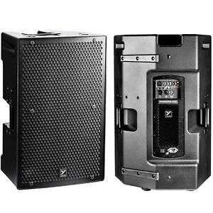 yorkville ps15p active 8800w total peak lightweight pa system speaker pair 635833999070 ebay. Black Bedroom Furniture Sets. Home Design Ideas