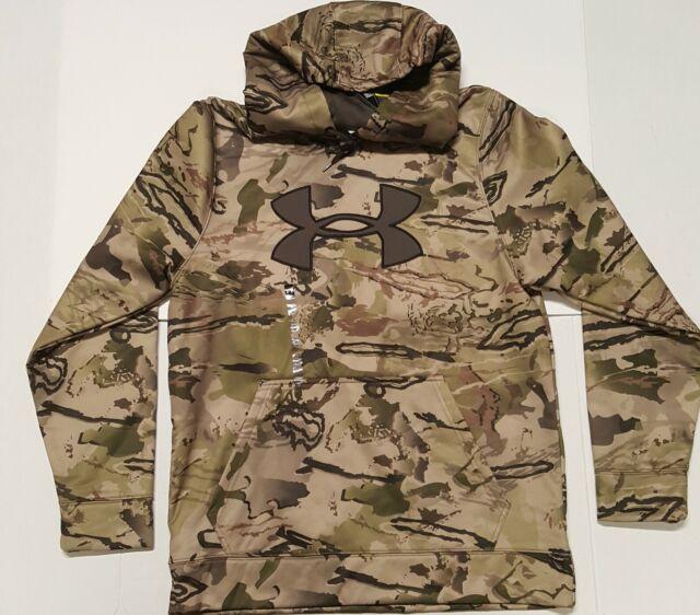 Under Armour Men's Fleece Camo Big Logo Hoodie Ridge Reaper Barren Size Medium