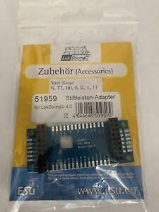 ESU 51959  Adapterplatine für LokSound L V4.0 mit Stiftleisten 51959 ++