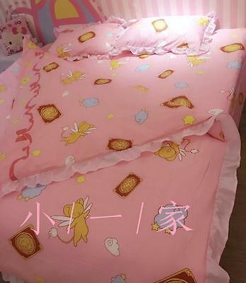 Card Captor Sakura Cotton Bedding Four sets Bed Sheet Falbala Original