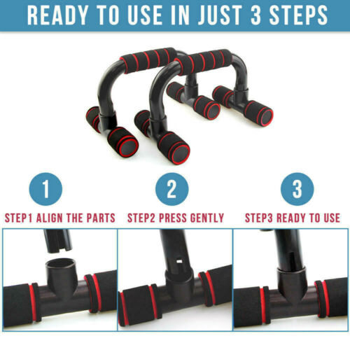 1 Pair Push Up Bars Stand Foam Press Pull Gym Exercise Fitness Handles for Chest