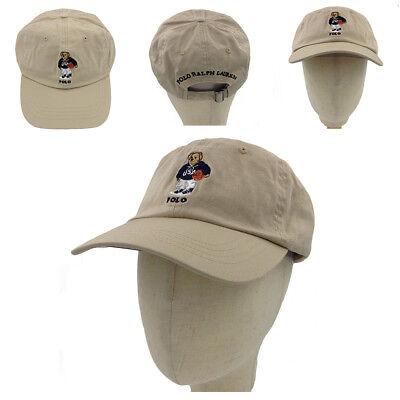 Men/'s Polo Embroidery Sweater Bear Hat Khaki Baseball Soccer Vintage Cap