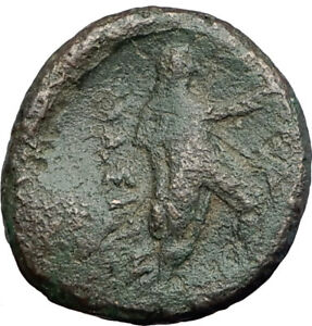THASOS-Thrace-Island-150BC-Authentic-Ancient-Greek-Coin-ARTEMIS-HERCULES-i63701