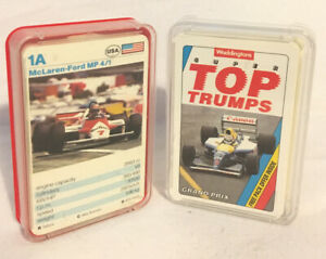 Waddingtons-Super-Top-Trumps-Formula-1-amp-Grand-Prix-Vintage-1992-Card-Games
