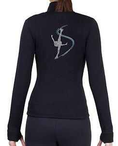 Activewear Constructive Figure Skating Polartec Fleece Jacket Rhinestone Jr271 Fashionable And Attractive Packages