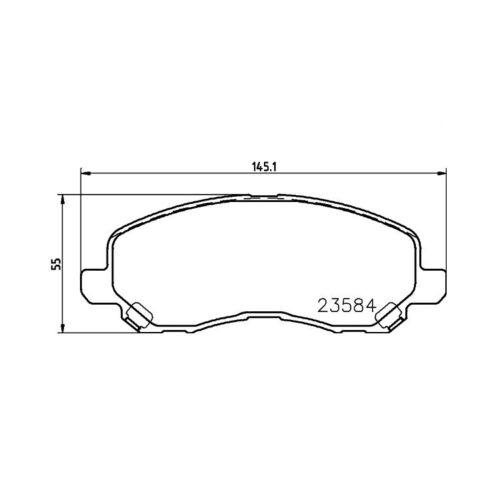 Textar Bremsbeläge vorne Citroen C4 Dodge Mitsubishi Lancer Peugeot 4008