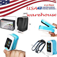 US Fingertip pulse oximeter Blood Oxygen Meter SPO2 OLED Pulse Heart Rate,Blue
