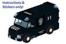 Custom LEGO Gotham SWAT Armored Car instructions stickers 60043 Batman