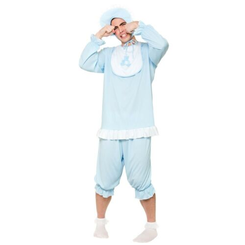 Big Cute Cry Baby Fancy Dress Costume Mens Ladies Outfit Sleepsuit Romper Adults