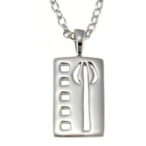 Sterling-Silver-Charles-Rennie-Mackintosh-Pendant-Necklace-with-18-034-Silver-Chain
