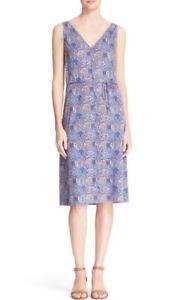 NWT-Tory-Burch-sandy-Floral-Print-Silk-Shift-Dress-Size-S