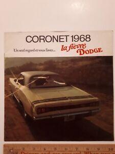 1968-DODGE-034-Coronet-034-Original-Colour-Dealer-Sales-Catalog-Brochure-CDN