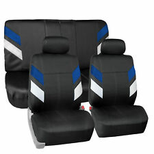 Neoprene Car Seat Covers For Auto Car Suv Van 2 Head Rest Full Set Blue Fits Jeep Cherokee