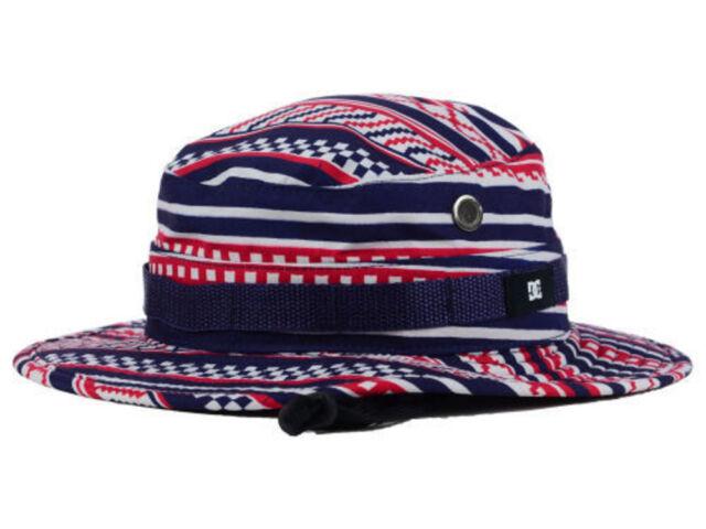DC Shoes Navy White Red Bucket Cap DC Sun Hat size L XL  35 36a8ecd2137