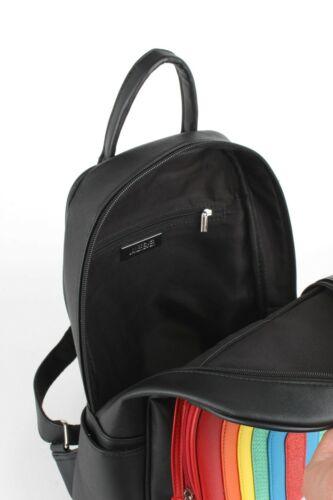JAWBREAKER RAINBOW BACKPACK BAG MULTI COLOUR BLACK KITSCH CUTE