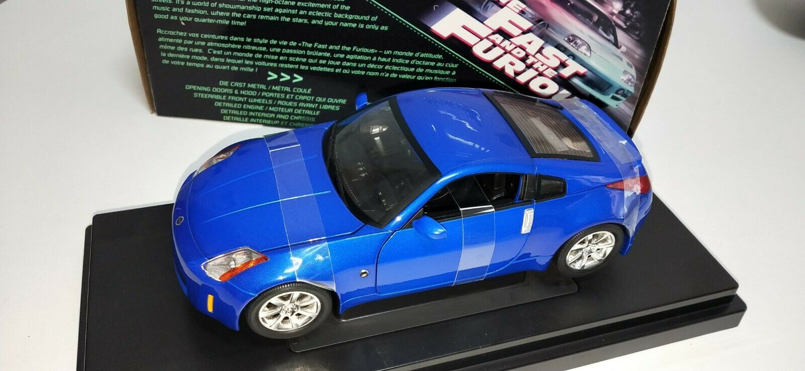 NISSAN Z 2003 ertl THE FAST AND THE FURIOS  ( VERSION SIN ANTENA )  RAREZA 1 18